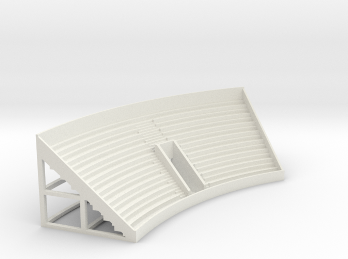 Curved Grandstand 3d printed