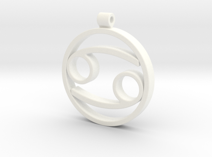 Cancer Zodiac Sign Pendant 3d printed