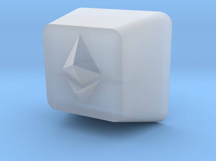 Ethereum Cherry MX Keycap 3d printed