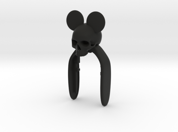 MICKEY SKULL KEY FOB 3d printed