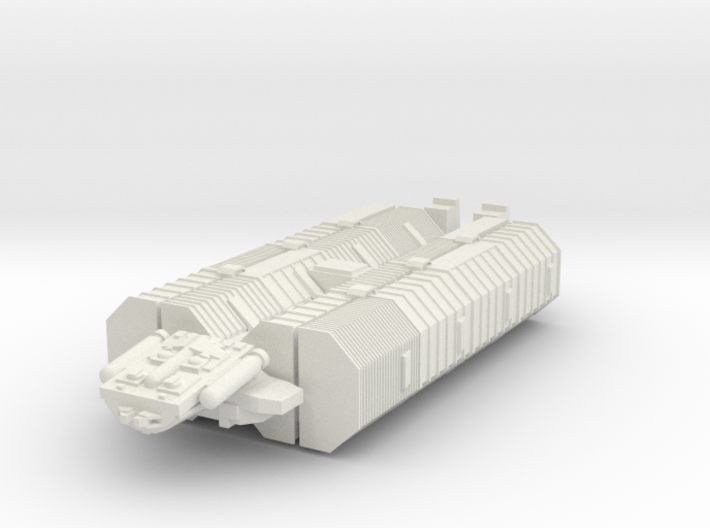 "BSG Geminon Freighter Small 1.2"" long 3d printed"