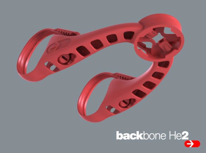 BackBone He2: No additional parts required! 3d printed