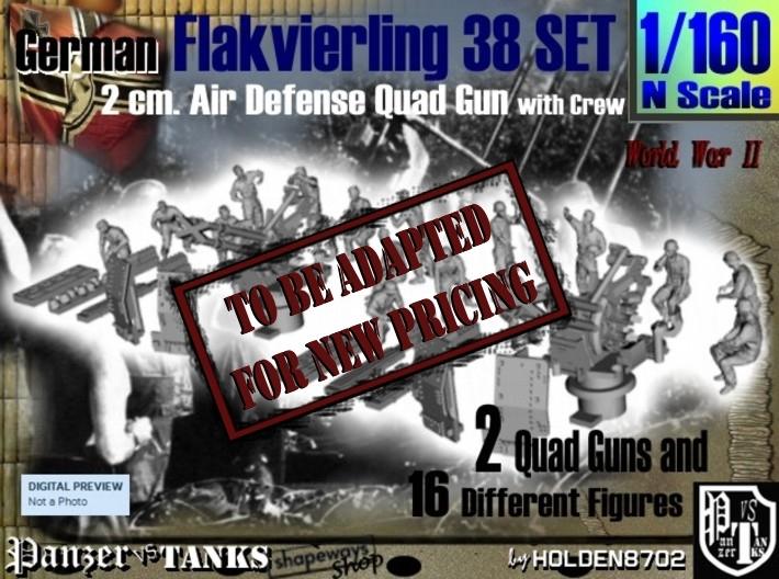 1-160 Flakvierling 38 Set 1 3d printed