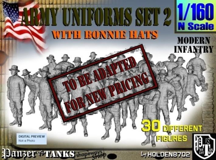 1-160 Army Modern Uniforms Set2 3d printed