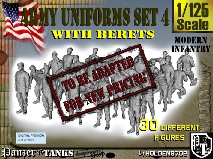 1-125 Army Modern Uniforms Set4 3d printed