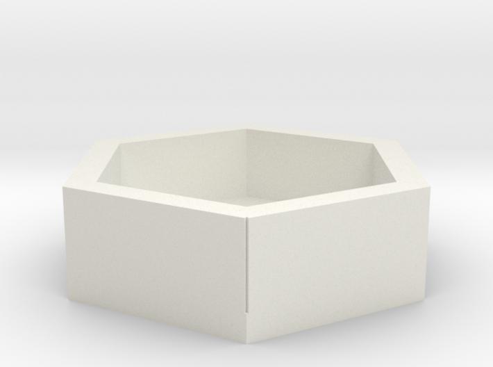 Betonblumenkübel sechseckig DDR 5er Set 1:120 3d printed