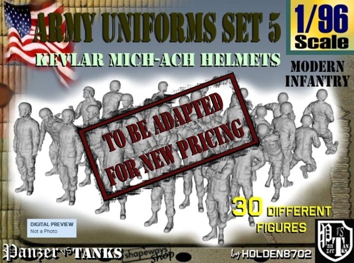 1-96 Army Modern Uniforms Set5 3d printed