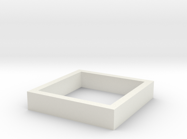 Parkhecke quadratisch (Buchsbaum) 1:120 3d printed