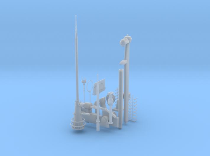 1/35 U-Boot VII C41 Conning Tower Detail Kit 3d printed