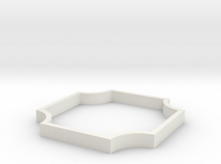 Parkhecke quadratisch Karree vierfach ausgerundet 3d printed