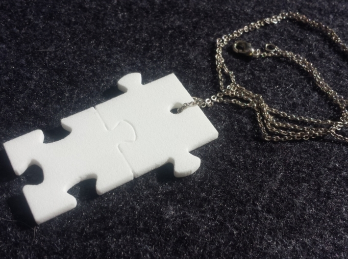 Puzzled! Pieces Charm (Small) 3d printed Puzzled! Chain not included