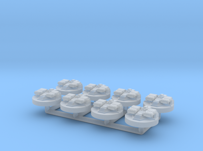 8x Revell Imperial Star Destroyer II Turrets 3d printed