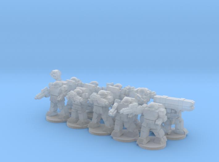 Warplate Squad 2 (alt poses- based) 3d printed