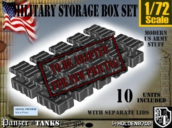 1-72 Military Storage Box Set 3d printed