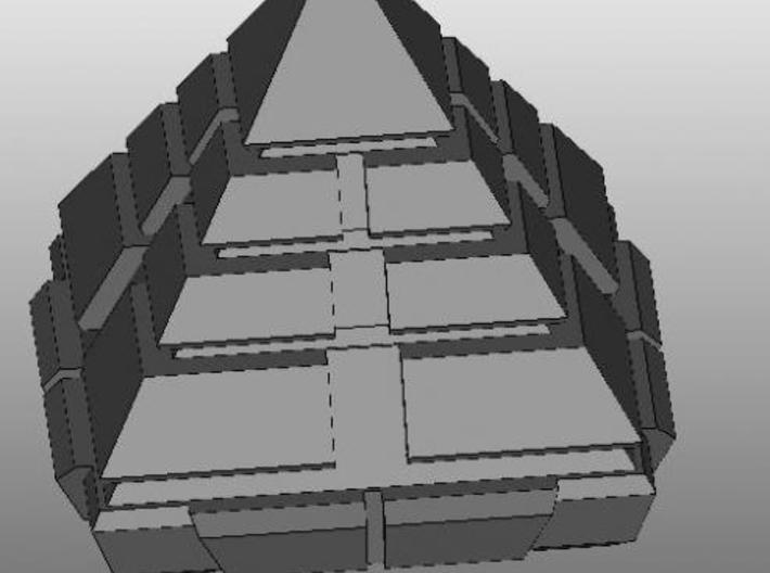 Pyramid ship 3d printed Description