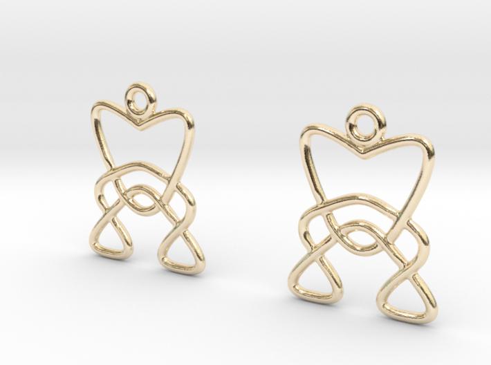 Celtic Weave Earrings - WE006 3d printed