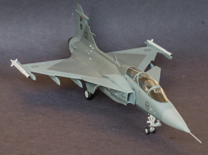 V3E A-Darter Air-to-Air Missile 3d printed 1/72 Scale Saab Gripen with A-Darter Air-to-air missiles