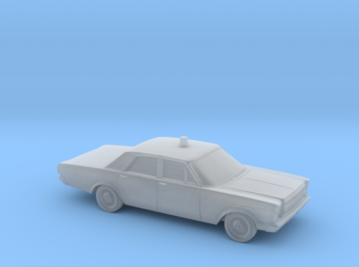 """1/160 1966 Ford Galaxie """"Police"""" 3d printed"""