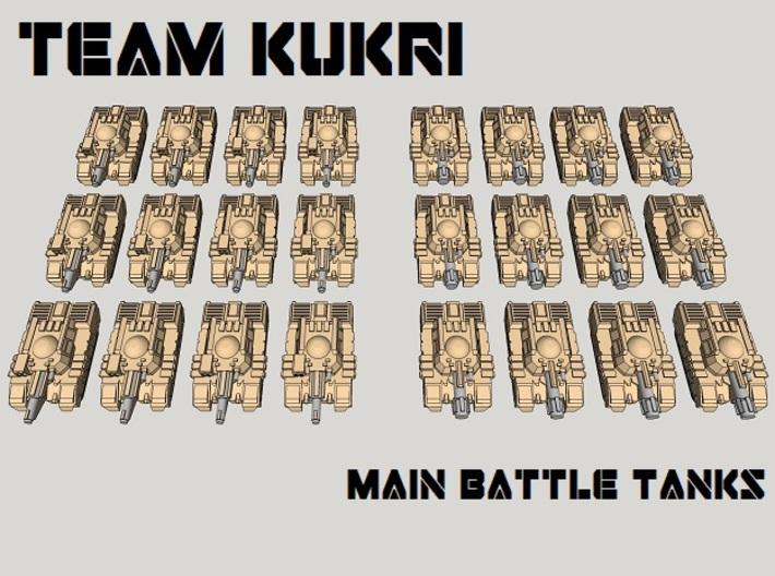 3mm Team Kukri Tank Pack (24pcs) 3d printed