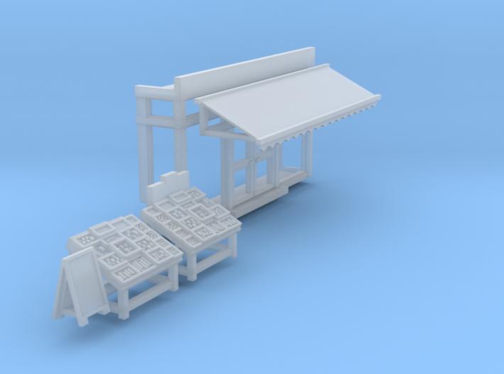 Greengrocer front (N 1:160) 3d printed