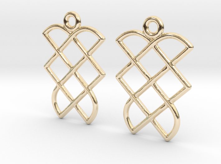 Celtic Weave Earrings - WE013 3d printed
