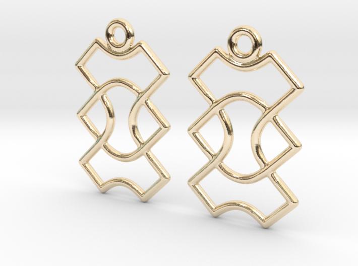 Celtic Weave Earrings - WE015 3d printed