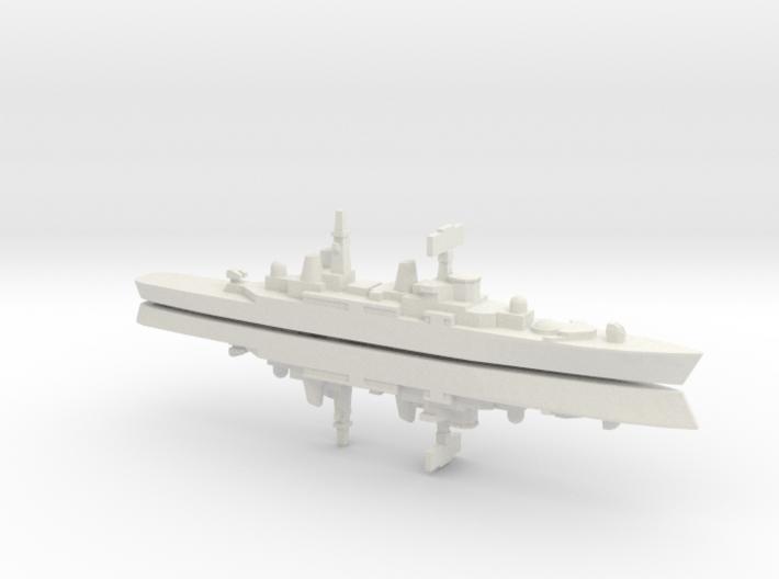 HMS Bristol x 2, 1/1800 3d printed