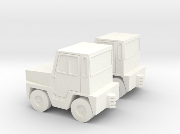 GSE Airport Baggage Tractor 1:200 (2pc) 3d printed