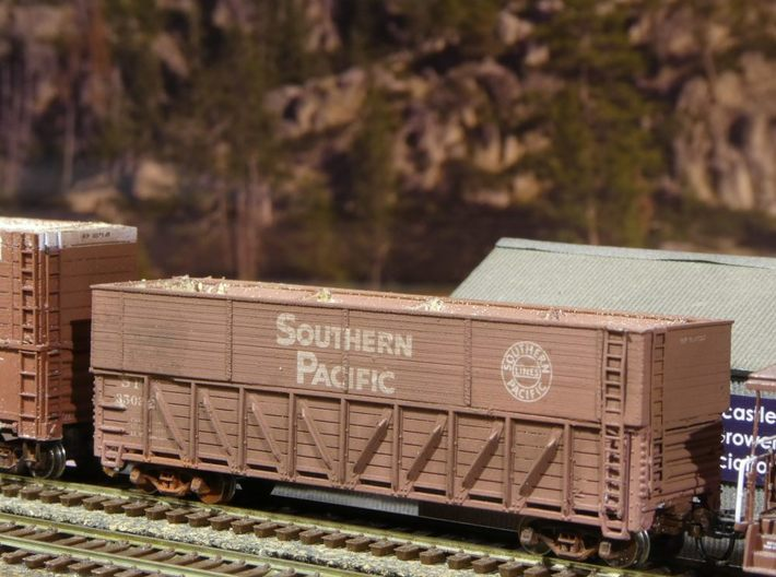 "SP Pulp Gondola Extension 10'-7"" N Scale 3d printed Finished model"