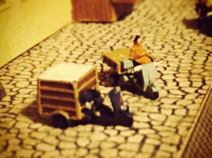 N-Scale 1:160 Piaggio Ape Scooters 3d printed Figures not included