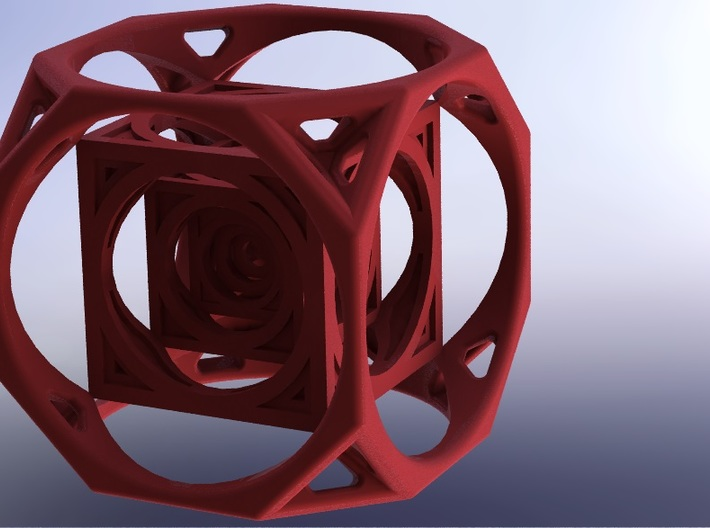 3D Cube paperweight  3d printed