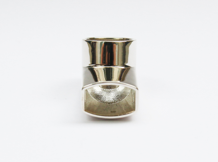 Jewelry-Inhaler Silver 3d printed