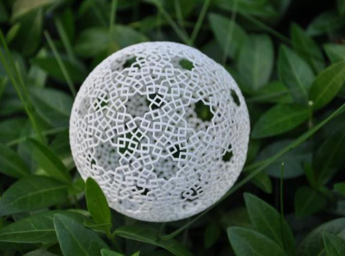 Two-point spherical star pattern 3d printed Printed in WS&F.