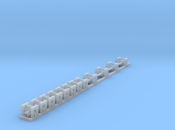 S- 2 Tracker x 12, 1/1800 3d printed
