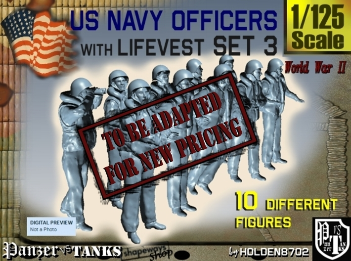 1-125 USN Officers KAPOK Set3 3d printed