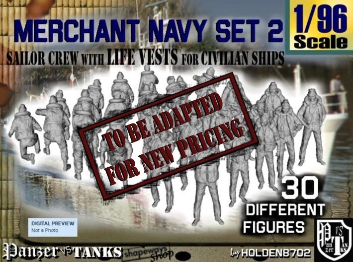 1/96 Merchant Navy Crew Set 2 3d printed
