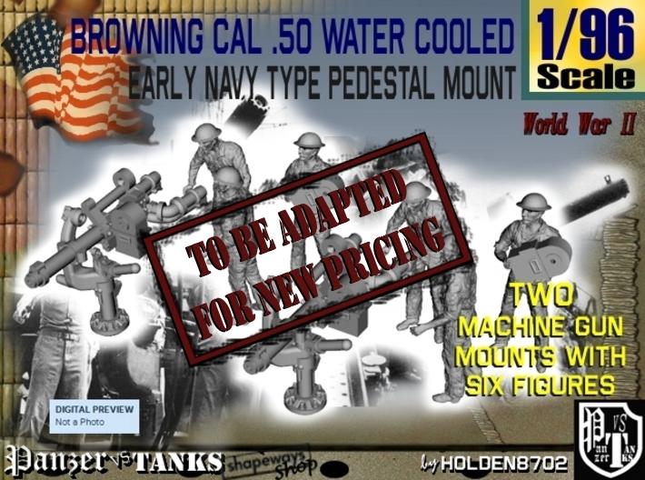 1-96 USN Cal 50 M2 WC & Crew Set1 3d printed