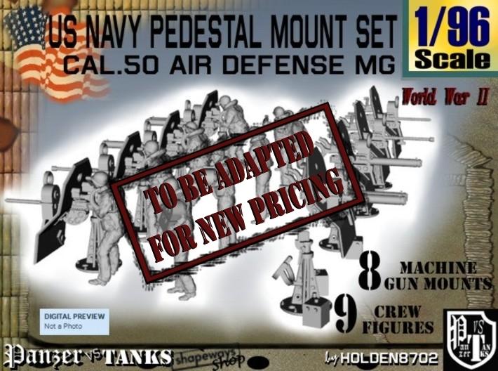 1/96 US Navy AA M Gun Pedestal Mount 3d printed