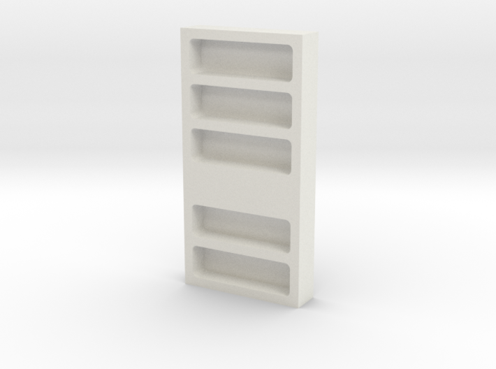 Bookcase, Wall (Space: 1999), 1/30 3d printed