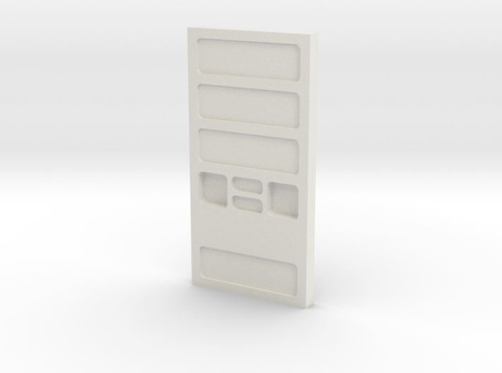 Wall, Four Recesses (Space: 1999), 1/30 3d printed