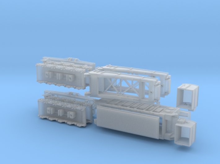 Schienentiefladewagen Uaai 687.9 mit Trafo 3d printed