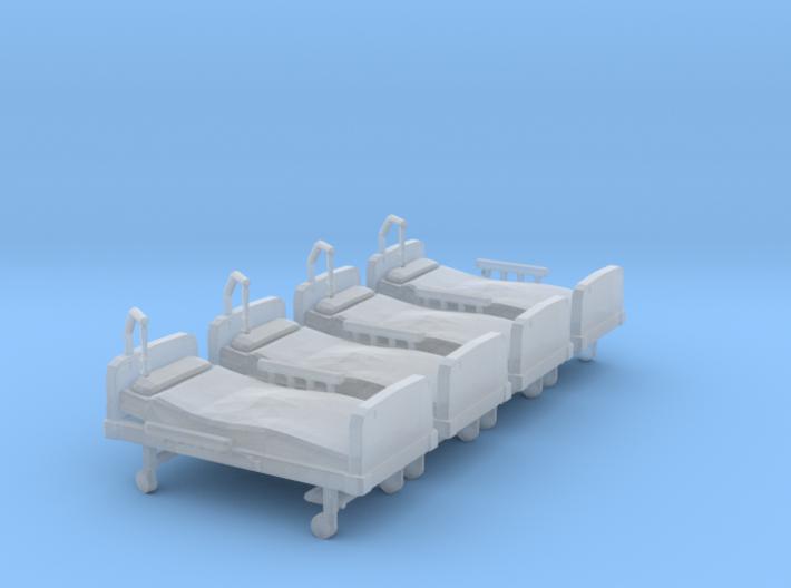 Hospital Bed 01. N Scale (1:160) 3d printed