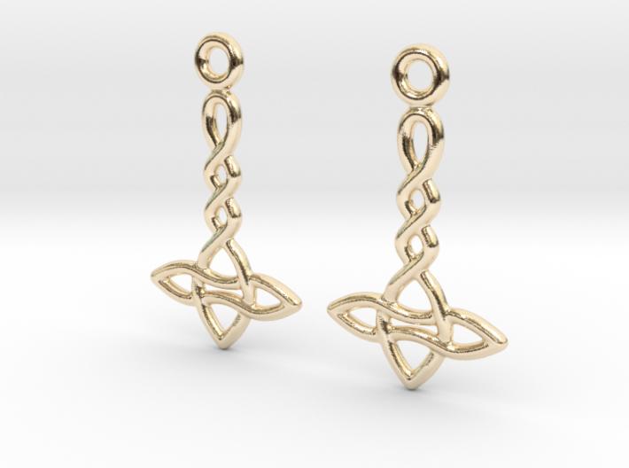 Celtic Weave Earrings - WE024 3d printed