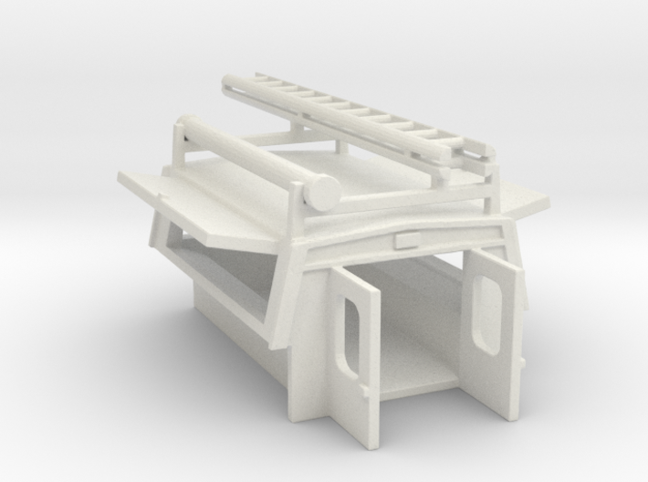 Utility Enclosure Open, RPS Truck Bed With Ladder/ 3d printed
