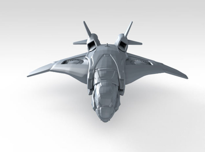 1/600 Scale S.H.I.E.L.D. Quinjet (In-Flight) x6 3d printed 3d render showing product detail