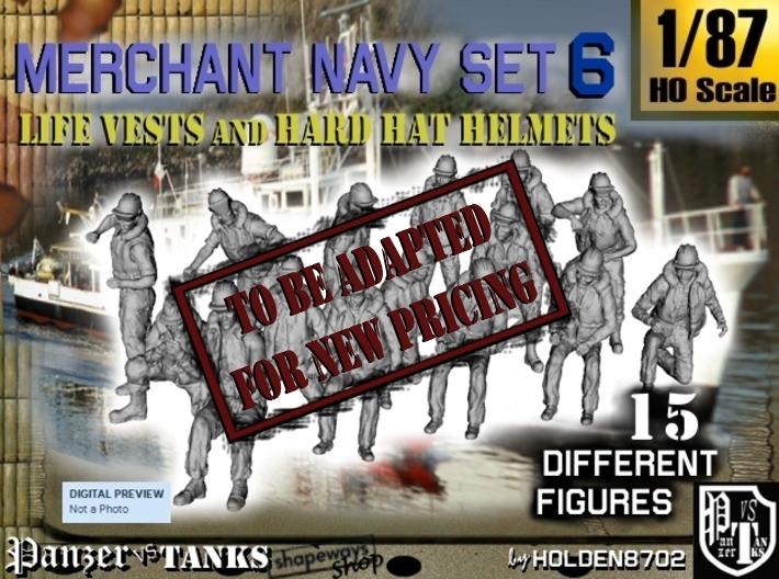 1-87 Merchant Navy Set 6 3d printed