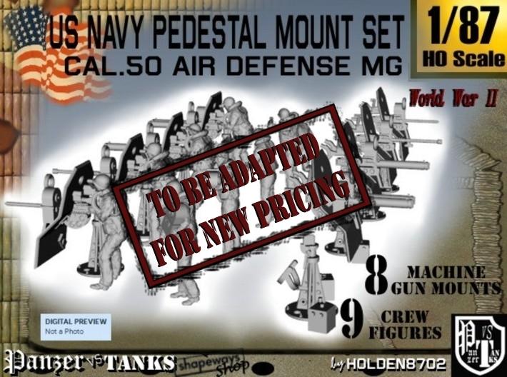 1-87 US Navy AA M Gun Pedestal Mount.stl 3d printed