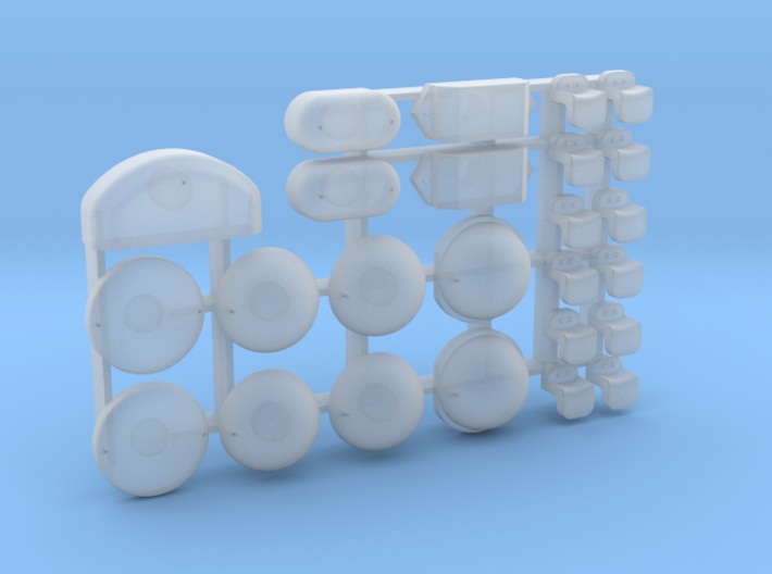 Blinker, Rücklichter und Ladenetzhacken Defender 1 3d printed