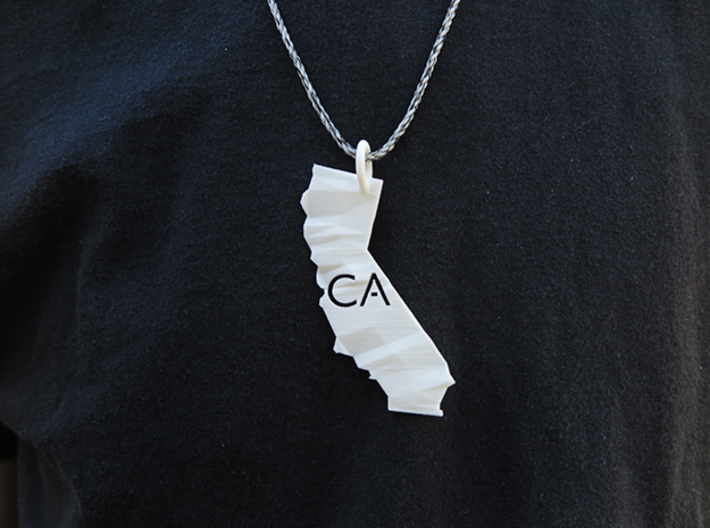 California State Pendant 3d printed *twine not included