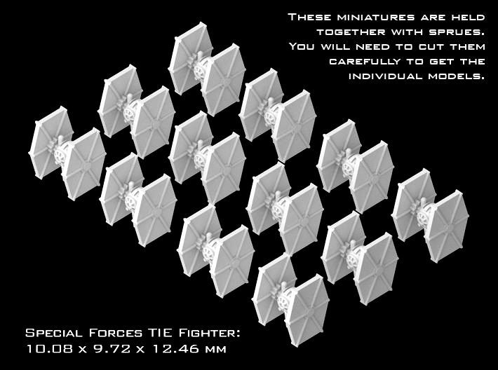 (Armada) 12x Special Forces TIE-Fighter 3d printed